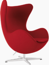 Egg Lounge Chair Fabric Red