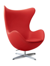 Egg Lounge Chair Red leather