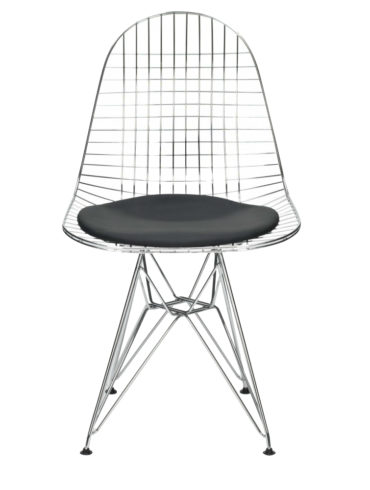 Mesh Chrome Eiffel Armless Chair MC-021-BLACK