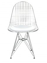 Mesh Chrome Eiffel Armless Chair MC-021-WHITE