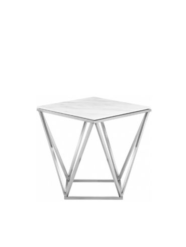 Dominica End table (Chrome)