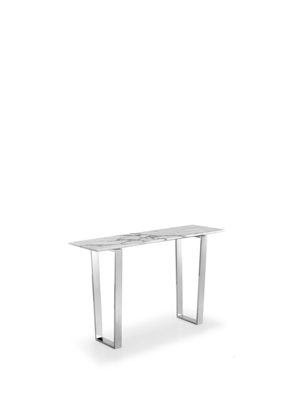 marble console table Chrome