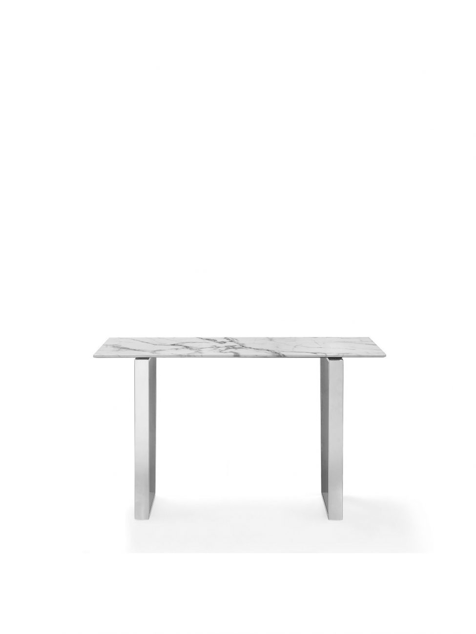 marble console table Chrome Legs