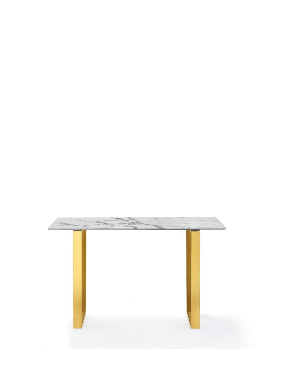 marble console table Gold Legs