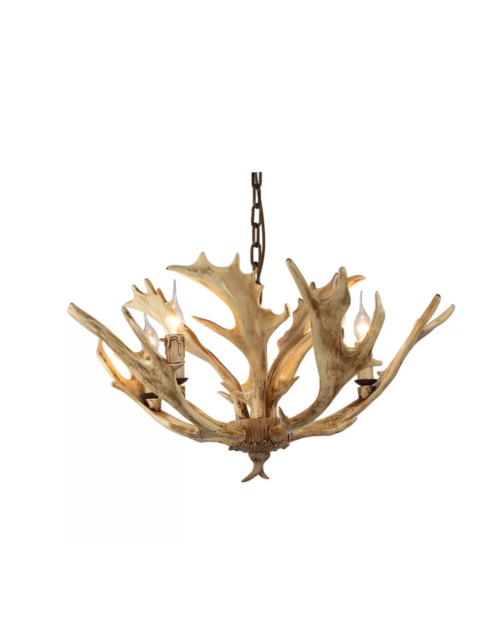 Faux Antler 5-Light