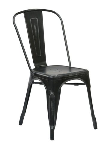 Roch Chair Distressed Black