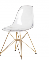 eiffel clear gold legs