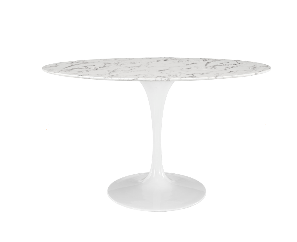 OVAL FAUX TABLE